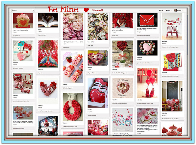 Example of a themed pinboard for Pinterest strategy